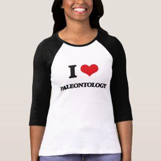 Eu amo a paleontologia camisetas
