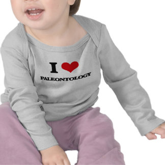 Eu amo a paleontologia t-shirt