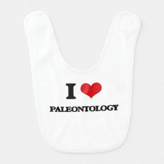 Eu amo a paleontologia babadores infantis