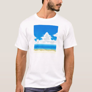 Eu amo a praia camisetas