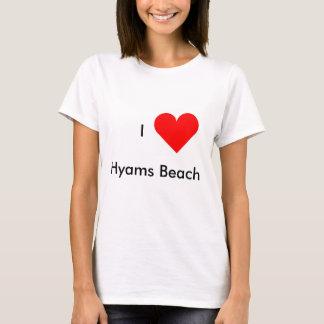 Eu amo a praia de Hyams Camiseta