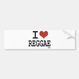 Eu amo a reggae adesivo para carro