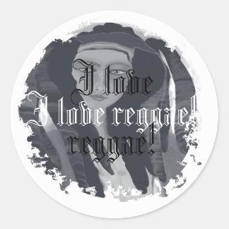 Eu amo a reggae! adesivo