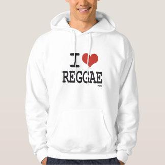 Eu amo a reggae moleton com capuz