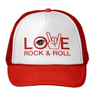 Eu amo a rocha & rolo boné