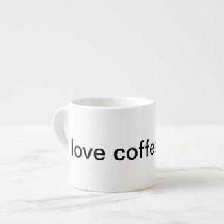 Eu amo a ruptura de café xicara de café expresso