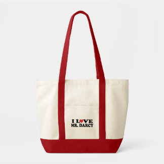 Eu amo a sacola do Sr. Darcy Livro Sacola Tote Impulse