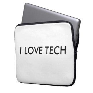 """Eu amo a tecnologia 13"""" caso capas de computadores notebooks"""