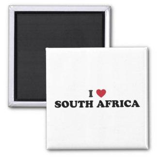 Eu amo África do Sul Ímã Quadrado