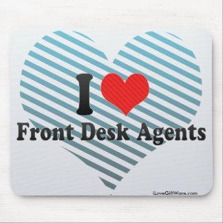 Eu amo agentes da recepção mousepad