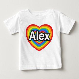 Eu amo Alex. Eu te amo Alex. Coração T-shirts