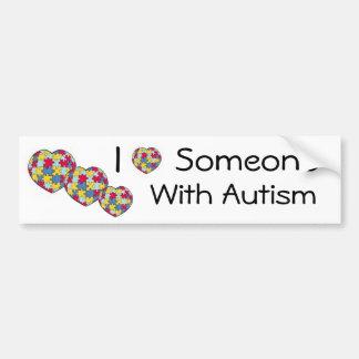 Eu amo alguém com autismo Bumpersticker Adesivo Para Carro