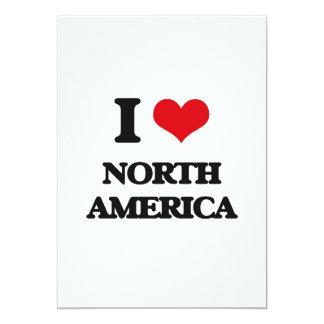 Eu amo America do Norte Convite
