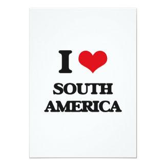 Eu amo Ámérica do Sul Convite 12.7 X 17.78cm