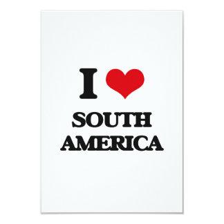 Eu amo Ámérica do Sul Convite 8.89 X 12.7cm
