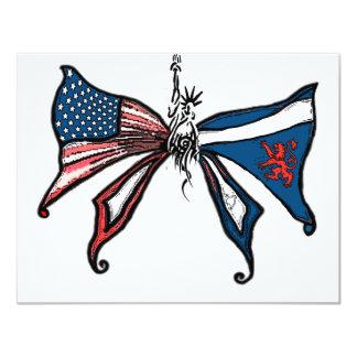 eu amo América e scotland!! Convite 10.79 X 13.97cm