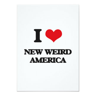 Eu amo AMÉRICA ESTRANHA NOVA Convite