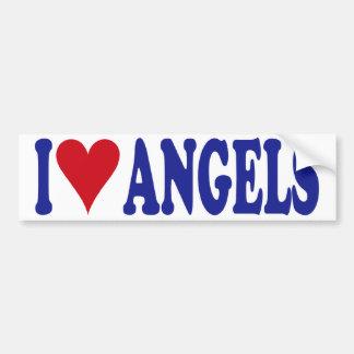 Eu amo anjos adesivo para carro