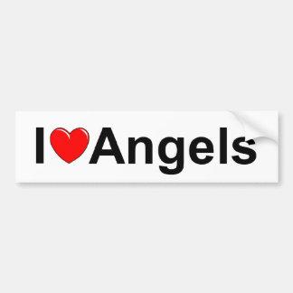 Eu amo anjos (do coração) adesivo para carro