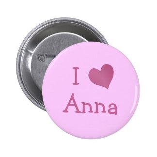 Eu amo Anna Bóton Redondo 5.08cm