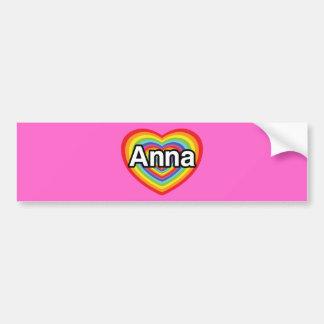 Eu amo Anna, coração do arco-íris Adesivo Para Carro