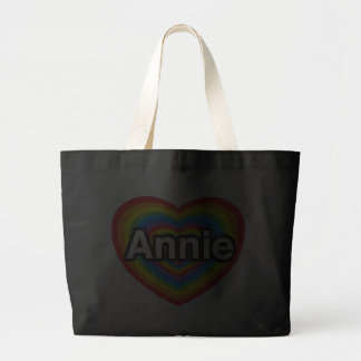 Eu amo Annie. Eu te amo Annie. Coração Bolsas De Lona