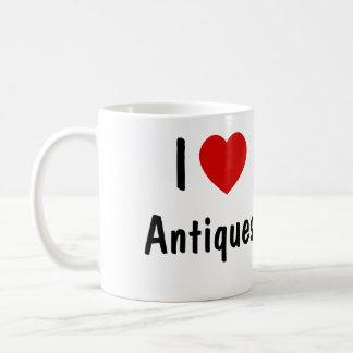 Eu amo antiguidades caneca de café