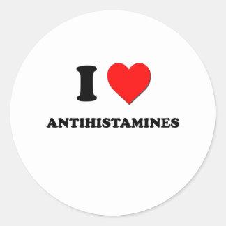 Eu amo antistamínicos adesivo redondo