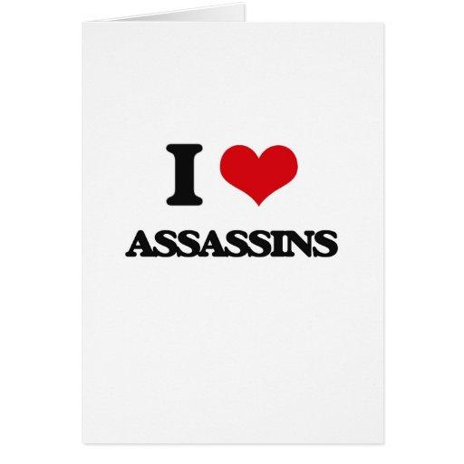 Eu amo assassinos cartao