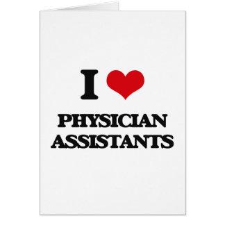 Eu amo assistentes do médico cartão comemorativo