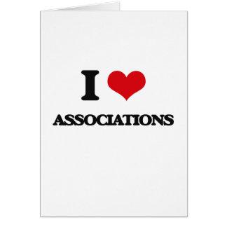 Eu amo associações cartão comemorativo