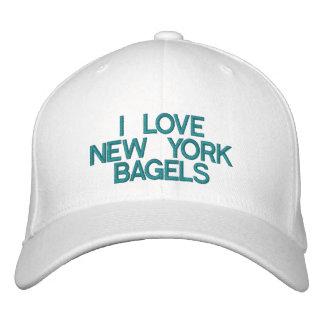 eu AMO BAGELS de NEW YORK - boné customizável