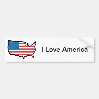 Eu amo bandeira de América - os Estados Unidos Adesivo Para Carro