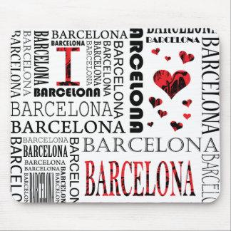 Eu amo Barcelona Mousepad