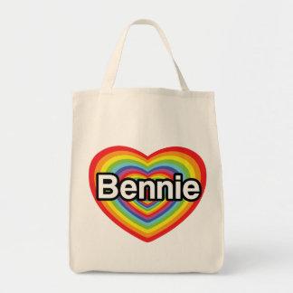 Eu amo Bennie: coração do arco-íris Bolsa
