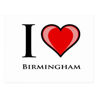 Eu amo Birmingham Cartão Postal