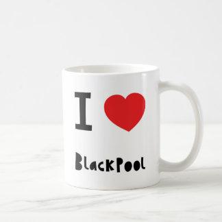 Eu amo Blackpool Caneca De Café