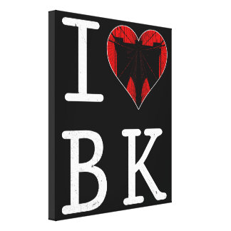 Eu amo Brooklyn, canvas da caixa de BK New York