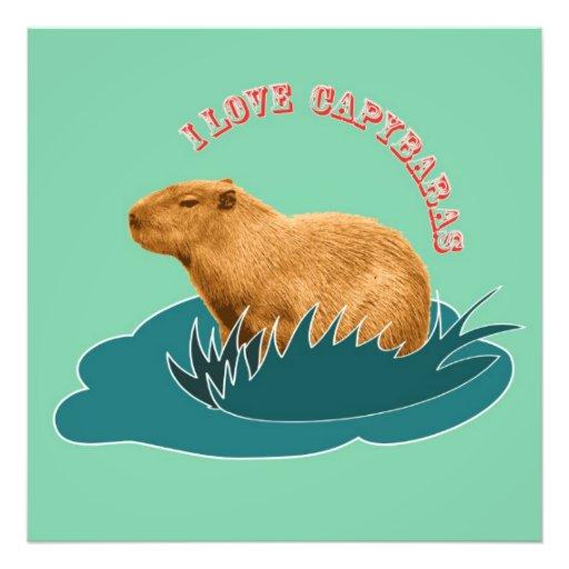 Eu amo Capybaras Artes De Fotos
