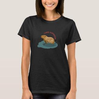 Eu amo capybaras camiseta