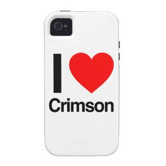 eu amo carmesins capa para iPhone 4/4S