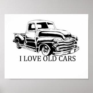 """Eu amo carros velhos 11"""" x 8,5"""" papel de poster do"""
