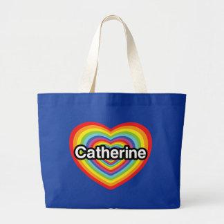 Eu amo Catherine: coração do arco-íris Bolsa