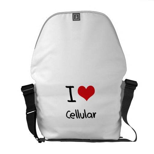 Eu amo celular bolsa mensageiro