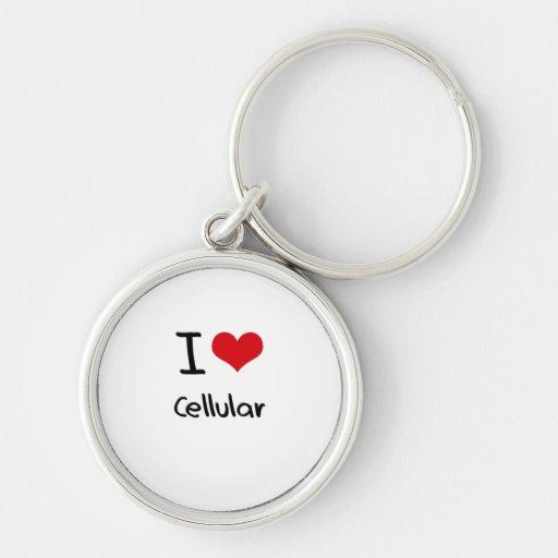 Eu amo celular chaveiro