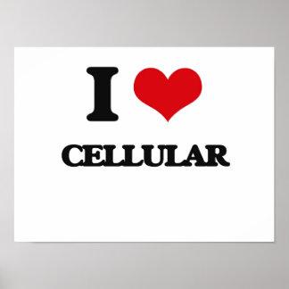Eu amo celular impressão