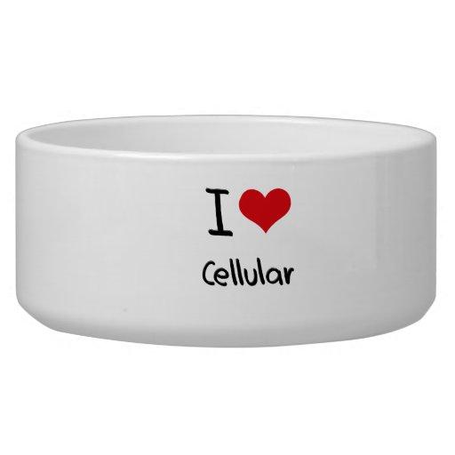 Eu amo celular tijelas para água para cachorros