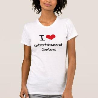 Eu amo centros de entretenimento tshirt