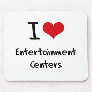 Eu amo centros de entretenimento mouse pads