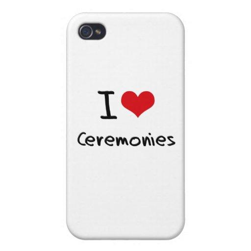 Eu amo cerimónias capa iPhone 4